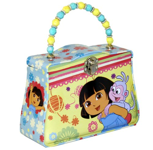 The Tin Box Company Dora the Explorer Classic Purse with Beaded Handle - 1