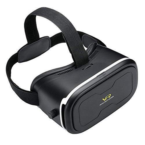 SROCKER R7 VR Box Intelligent Adjustable VR Virtual Reality Glasses Headset 3D Video Movie Game Glasses with Adjustable Lens and Strap