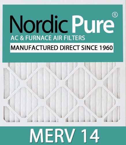 Nordic Pure 16X24X4M14-1 Pleated Ac Furnace Air Filter, Box Of 1