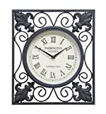 UMA Enterprises 35415 Metal Outdoor Wall Clock, 14 by 16-Inch