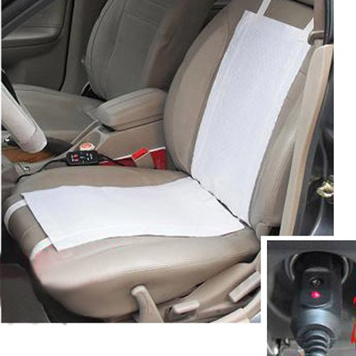 4Pc Universal 12V Carbon Fiber Winter Heated Seat Heater Heating Cover Pad Mat Warmer Kit With Car Cigarette Switch For Sedan Coupe Vehicle front-774795