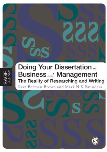 Business Dissertation In Management Researching Writing