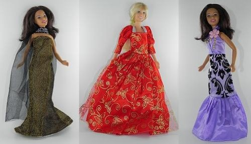 Barbie Doll Dresses - The Red Carpet Collection (3 Dress Set) - DOLLS NOT INCLUDED
