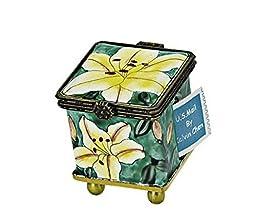 Kelvin Chen Postage Stamp Holder - Yellow Flowers
