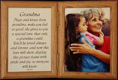 5X7 Hinged Grandma Poem Oak Picture Photo Frame ~ A Wonderful Gift Idea For Grandma/Grandparent For Valentines Day, Birthday Or Christmas!