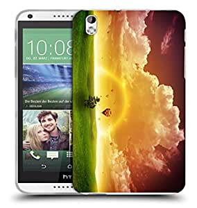 Snoogg Rainbow Nature Designer Protective Back Case Cover For HTC 816