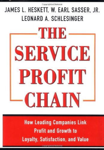 The Service Profit Chain, by James L. Heskett, W. Earl Sasser, Leonard A. Schlesinger