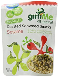 GimMe All Natural Roasted Seaweed Crumbles, Sesame, 0.7 Ounce (Pack of 12) by Gimme Health Foods