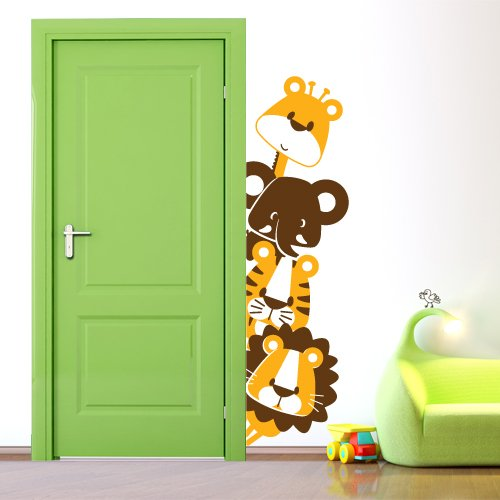 Adesivo murale wall sticker per bambini animaletti - Decorazioni camera bimbi ...
