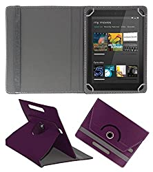 ACM ROTATING 360° LEATHER FLIP CASE FOR DELL VENUE 8 CELLULAR TABLET STAND COVER HOLDER PURPLE