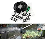 Carry360 20M 66FT Garden Outdoor Patio Home Misting Cooling System With 20PCS Plastic Mist Nozzle And Quick Coupling