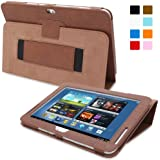 Snugg Galaxy Note 10.1 2013 Edition Case - Smart Cover with Flip Stand & Lifetime Guarantee ('Distressed' Brown Leather) for Galaxy Note 10.1 (2013)
