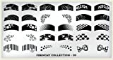 MoYou-London Nail Art Image Plate Frenchy Collection - 03