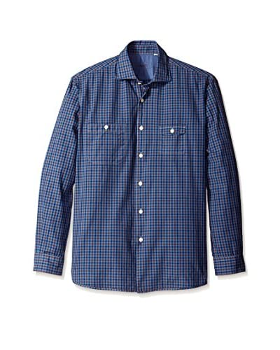 Borgo28 Men's Long Sleeve Plaid Shirt