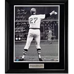Carlton Fisk Autographed Photo Framed - Black and White Photo - Stay Fair Wave -...