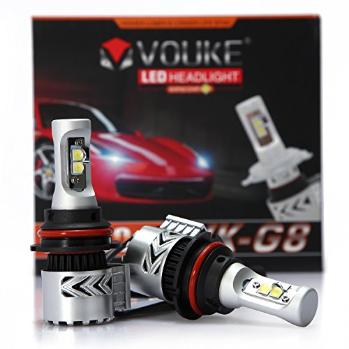 VK-G8 9007 HB5 12000LM LED Headlight Conversion Kit, Hi/Lo beam headlamp, Dual Beam Head Light, HID or Halogen Head light Replacement, 6500K Xenon White, 1 Pair- 2 Year Warranty (Ford Ranger Led Headlights compare prices)