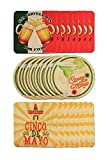 Bar Style Coasters   Set of 24 (Cinco De Mayo)