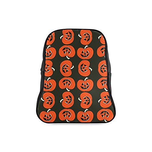 [Navarro Classic Halloween October 31 Jack O Lantern Children School High-grade PU Leather Backpack Bag Shoulder] (Lock Shock And Barrel Costumes From Nightmare Before Christmas)