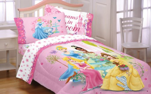 Pink Disney Princess Comforter & Twin Sheet Sets For ...