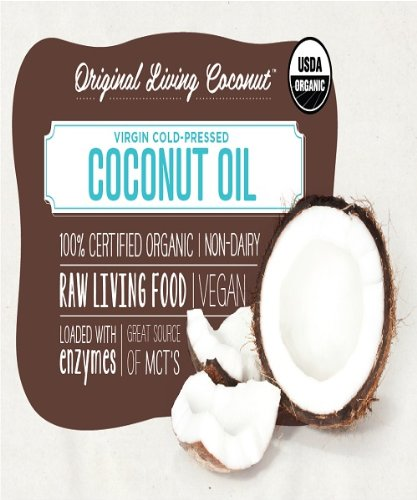 Virgin Cold-Pressed Raw Coconut Oil, 100% Certified Organic 1 Gallon