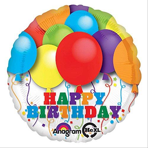 Anagram International Hx Bright Balloons Birthday Balloon, Multicolor
