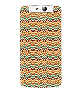 Zig Zag Chevron 3D Hard Polycarbonate Designer Back Case Cover for Oppo N1