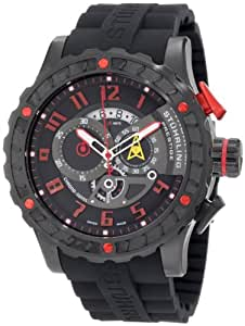 Stuhrling Prestige Men's 329R.335664 Prestige Swiss Made Limited Edition  Quartz Chronograph Black Watch