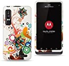 AUTUMN FLOWER Rubber Touch Snap-On Phone Protector Hard Cover Case for Motorola Droid 3 XT862 / Milestone 3