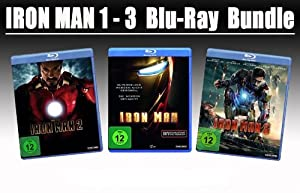 Iron Man 1-3 BLU-RAY Bundle
