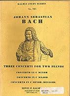 Three Concerti for Two Pianos: Concerto in C…