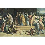 The Death of Ananias, by Raphael (Print On Demand)