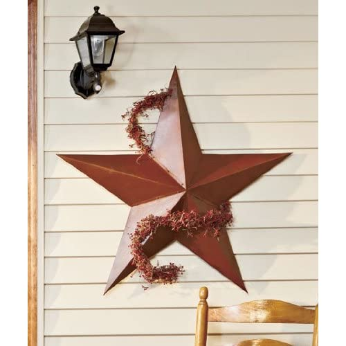 Large Vintage Rustic Metal Country Barn Star