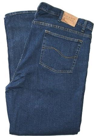 GRAND RIVER Regular Fit Stretch Jeans - In Blue or Black #180 Denim, 38 x 23