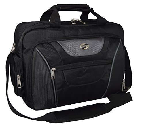 American Tourister 935700 Double Compartment 16-inch Laptop Bag / Business Briefcase Black-Grey image