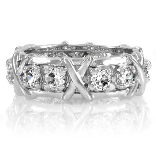 Zahra's Wrapped CZ Eternity Band