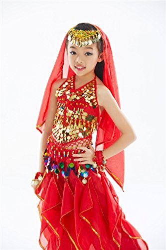 Dreamspell Belly Dance Kids Suit Children Stage Show Best Gift(M Size)
