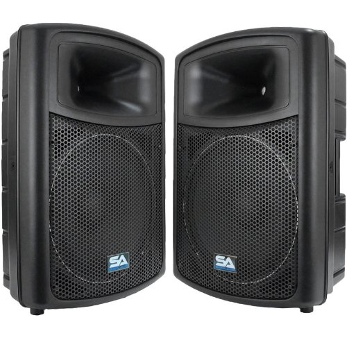 Seismic Audio Nps-15Pr Pro Audio Pa Dj 15-Inch Speakers - Lightweight Molded Cabinets - 700 Watts