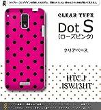 HTC J ISW13HT対応 携帯ケース【1395ドットS『ローズピンク』クリア】