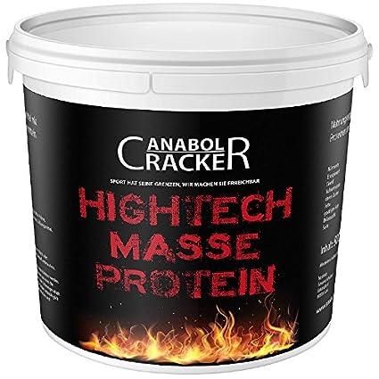 Hightech Masse Protein, Whey Eiweißpulver, 900g Eimer, Vanille Geschmack, Muskelaufbau Shake