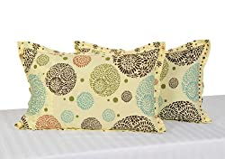 Swayam Drape and Dream Cotton 2 Piece Pillow Cover Set - Cream (PC02-1404)
