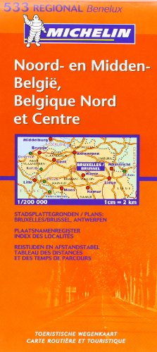 Belgique Nord and Centre (Michelin Regional Maps)