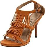 Ellie Shoes Women's 417-Sioux Sandal,Brown,10 M US
