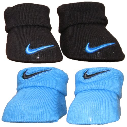 Nike Swoosh Infant Baby Boy's Blue Crib Shoes Booties 0-6 Month