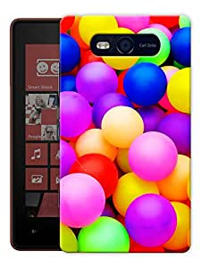 """Humor Gang Balloons And Colors Of Life Printed Designer Mobile Back Cover For """"Nokia Lumia 820"""" (3D, Matte, Premium Quality Snap On Case)"""