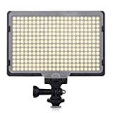Craphy 308 LED PT-308S Dimmable Ultra High Power Panel On Camera Photo Light for Canon Nikon Pentax Panasonic SONY Samsung and Olympus Digital SLR JVC DSLR DV Camcorder