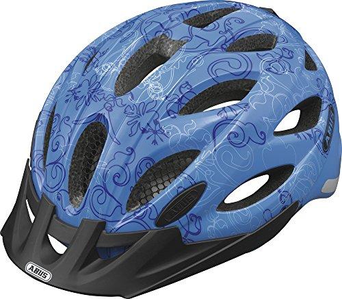 ABUS, Casco ciclismo Lane-U, Nero (garden blue), M