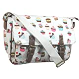 SwankySwans Cupcake Design Saddle Satchel