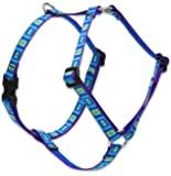 "Lupine 1/2"" Sea Glass 9-14 Roman Dog Harness"
