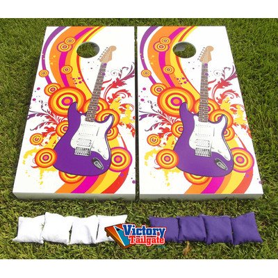 Electric Guitar Cornhole Bean Bag Toss Game