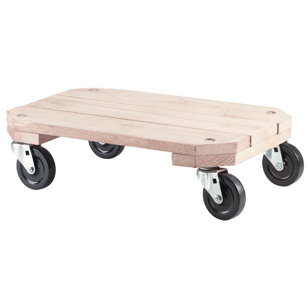 Solid Wood Plant Dolly Heavy Capacity Wheel Rolling Swivel